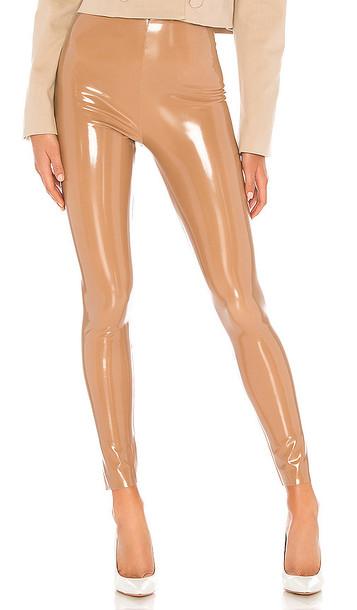 Commando Patent Leggings in Tan
