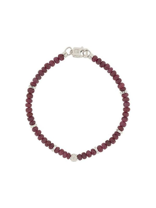 Tateossian Nodo ruby bracelet in red