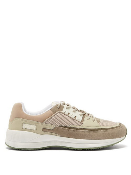 A.P.C. A.P.C. - Herbert Mesh And Suede Trainers - Mens - Beige