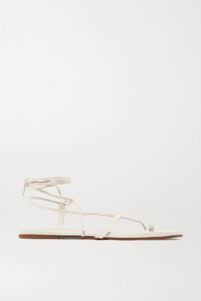 TKEES - Jo Suede And Leather Sandals - Cream