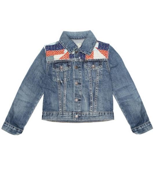 Polo Ralph Lauren Kids Patchwork denim jacket in blue