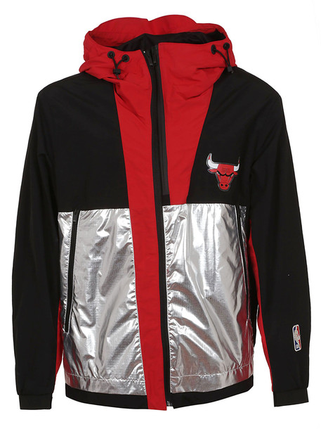 Marcelo Burlon Chicago Bulls Paneled Hooded Jacket in black
