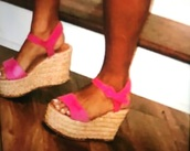 shoes,pink,sandals,wedges