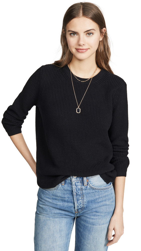525 America Shaker Sweater in black