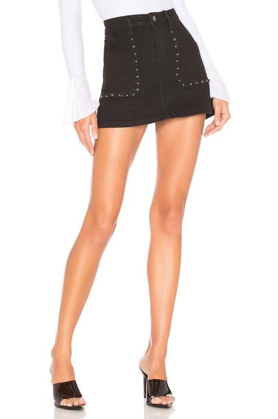 superdown Mona Studded Mini Skirt in black