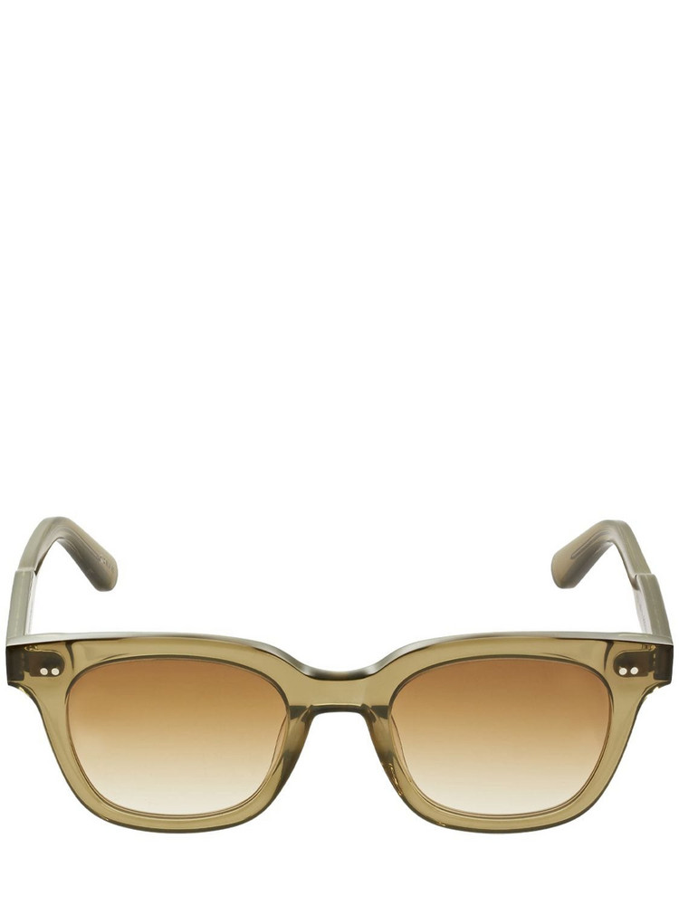 CHIMI 101 Black Square Acetate Sunglasses in brown / green