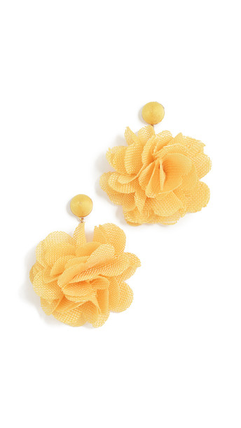 Shashi Posey Earrings in yellow