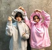 jacket,luna fx,matching set,hoodie,frilly