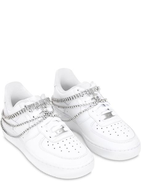 NIKE Air Force 1 Bridal Sneakers W/ Swarovski in white