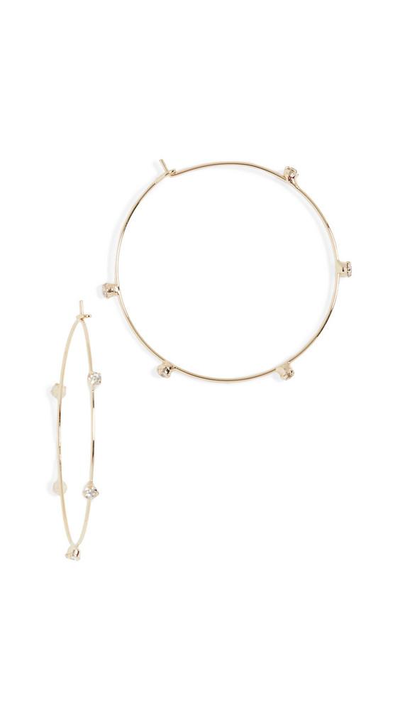 Jules Smith Crystal Hoop Earrings in gold / yellow