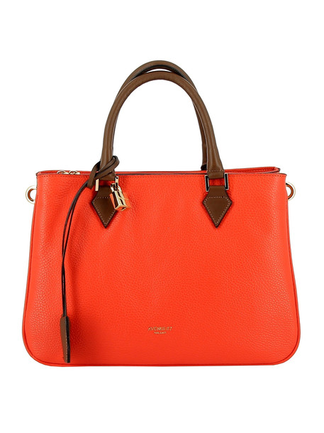 Avenue 67 Orange Leather Handbag