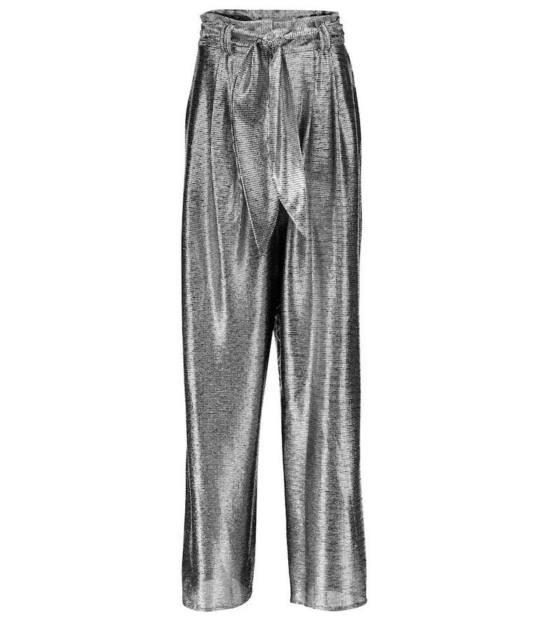 Christopher Kane Metallic wide-leg pants in silver