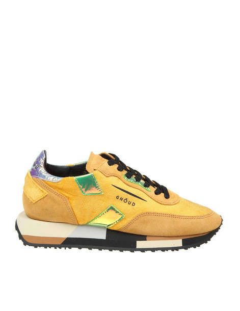 Ghoud Sneakers Rush In Leather And Suede in yellow
