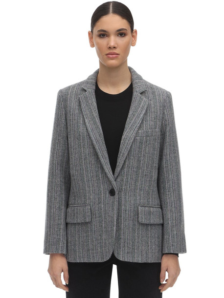 ISABEL MARANT ÉTOILE Charly Wool Blend Jacket in grey