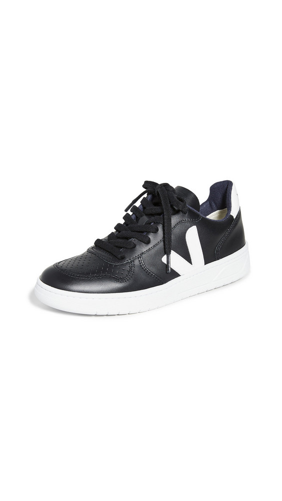 Veja V-10 Sneakers in black / white