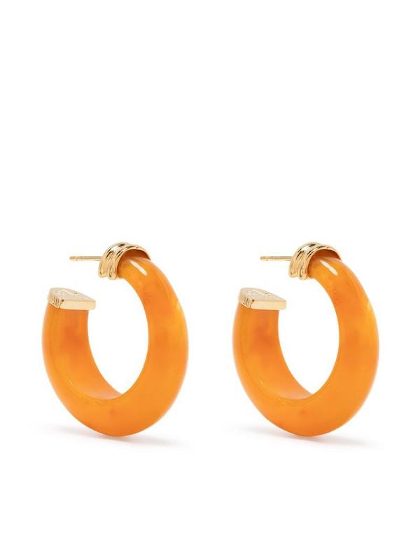 Gas Bijoux Abalone hoop earrings in orange