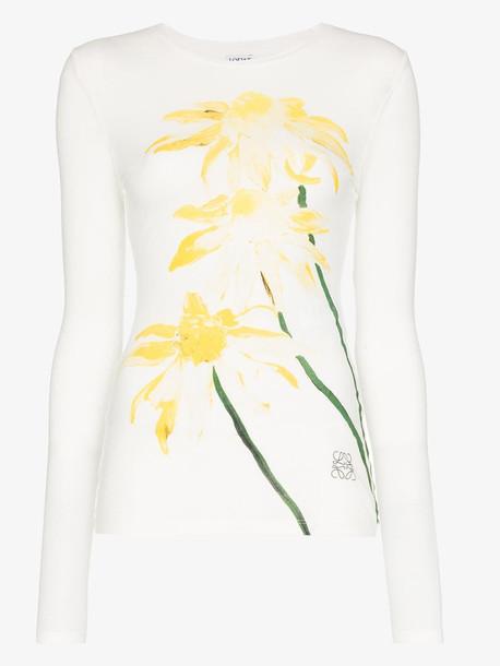 Loewe long sleeve daisy print T-shirt