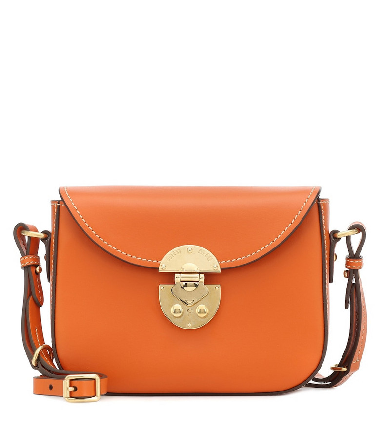 Miu Miu Small leather satchel in orange