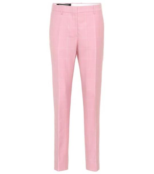 Calvin Klein 205W39NYC Checked wool herringbone pants in pink