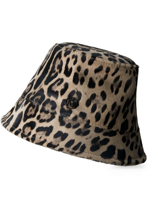 Maison Michel Souna bucket hat in neutrals