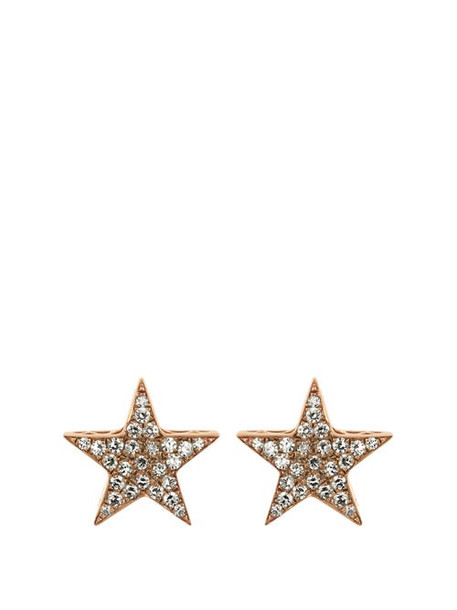 Selim Mouzannar - Istanbul Diamond & 18kt Gold Stud Earrings - Womens - Pink Gold