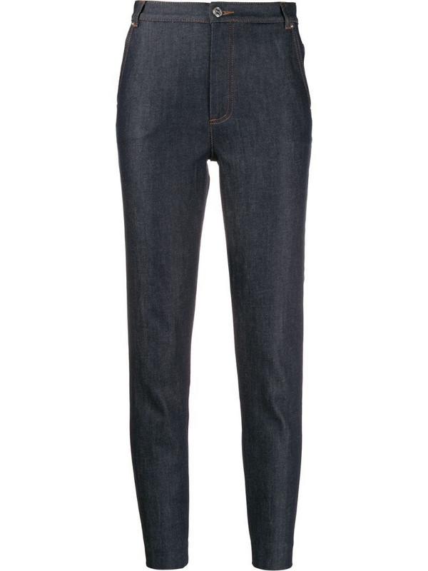 A.P.C. slim fit trousers in blue