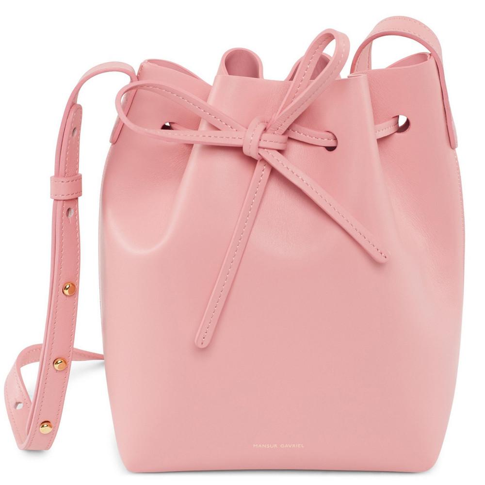Mansur Gavriel Calf Mini Bucket Bag - Peony