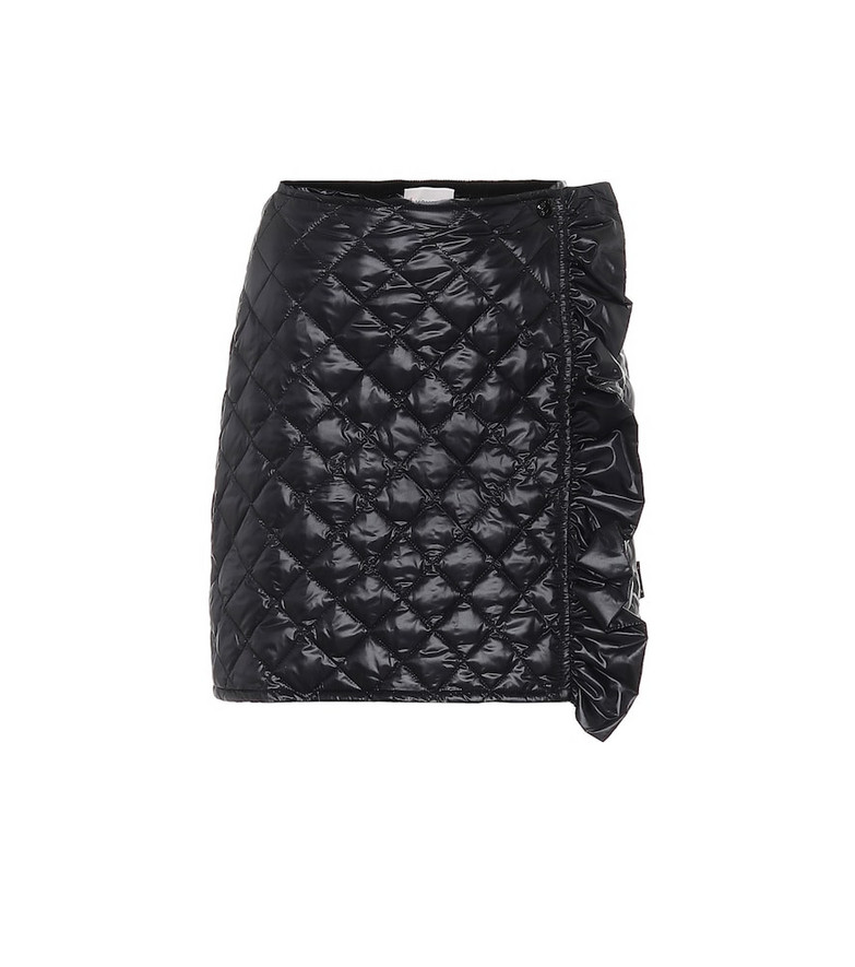 Moncler Quilted high-rise skirt in black