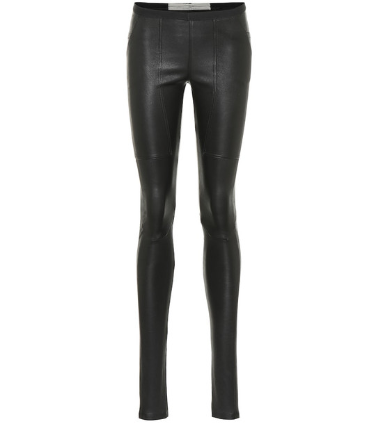 Rick Owens Leather leggings in black