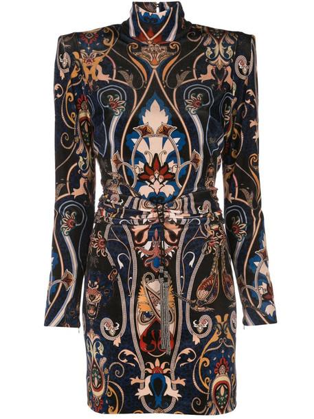 Dundas baroque print mini dress