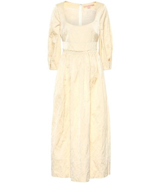 Brock Collection Exclusive to Mytheresa – Ondina satin midi dress in beige