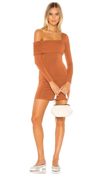 Privacy Please Florence Mini Dress in Chocolate