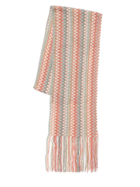 MISSONI Multi-color Striped Viscose Knit Scarf