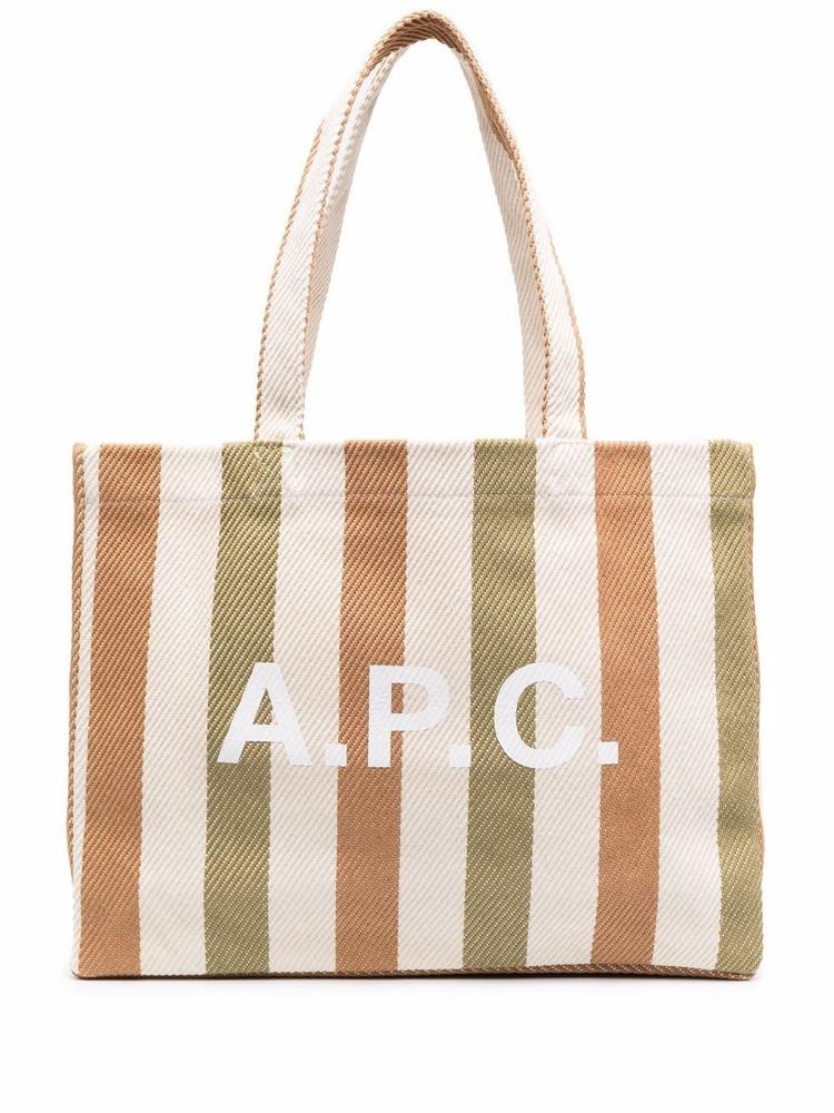 A.P.C. A.P.C. striped tote bag - Neutrals