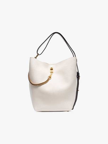 Givenchy white GV leather bucket bag