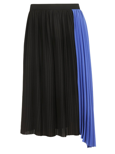 Kenzo Two-tone Pleated Skirt in black