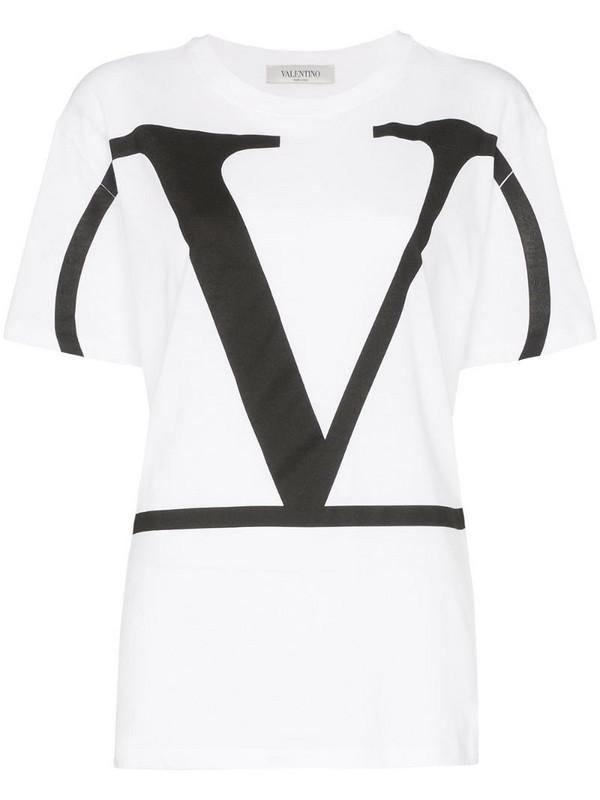 Valentino VLOGO print T-shirt in white