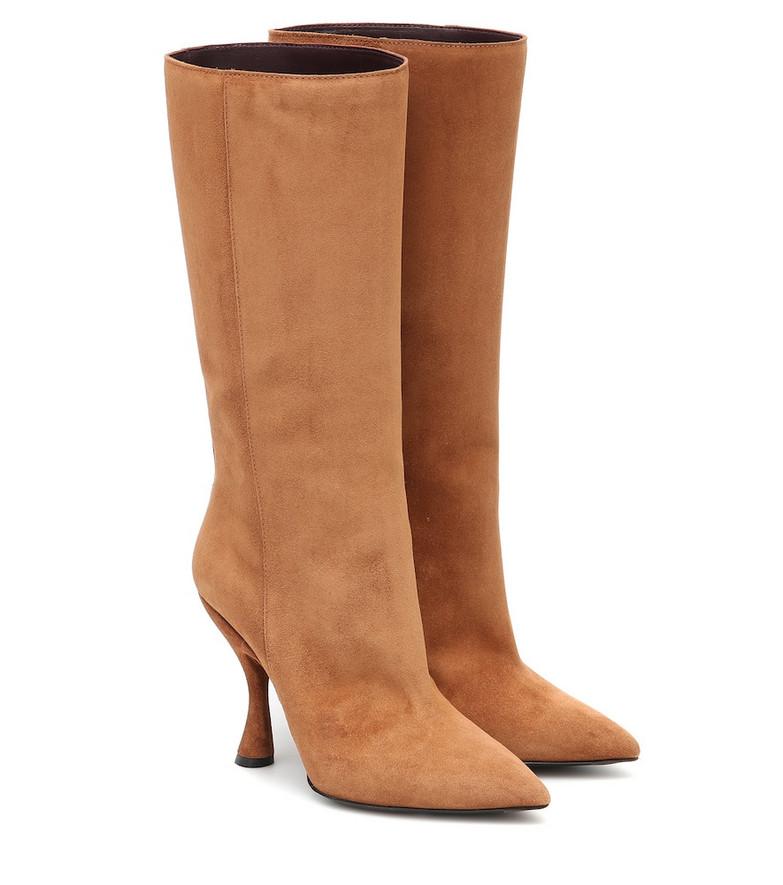 Dries Van Noten Suede ankle boots in brown