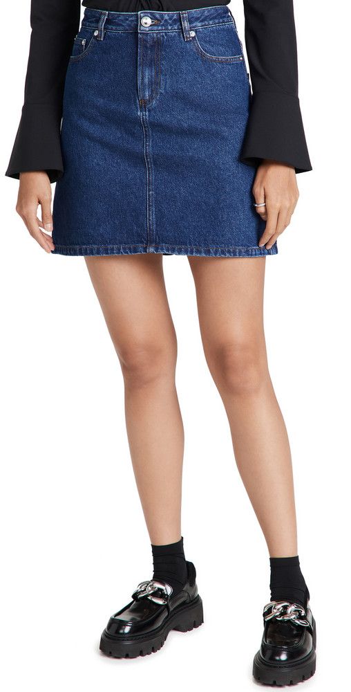 A.P.C. A.P.C. Jupe Standard Skirt in indigo