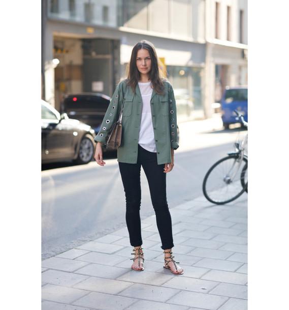 carolines mode blogger jacket top shoes bag