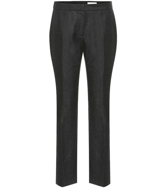 Alexander McQueen High-rise wool pants in grey