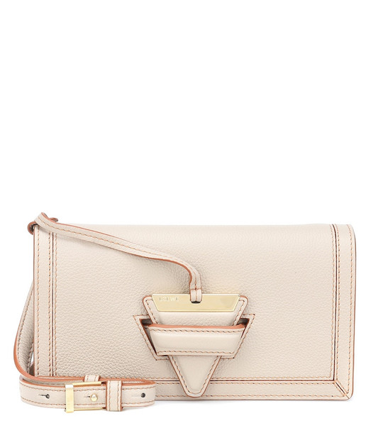 Loewe Barcelona Mini leather shoulder bag in white