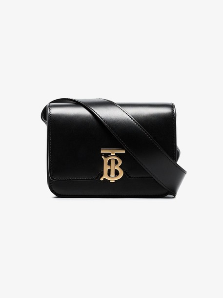 Burberry Belted Leather TB Bag in black