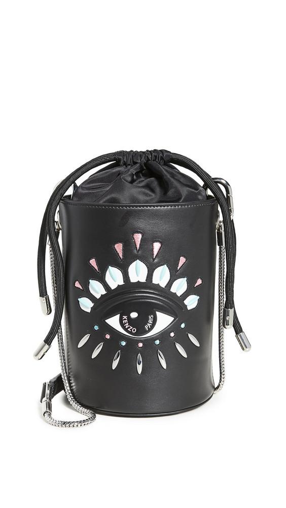 KENZO Kontact Minu Bucket Bag in black