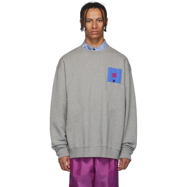 Acne Studios Grey Forba Flag Face Sweatshirt