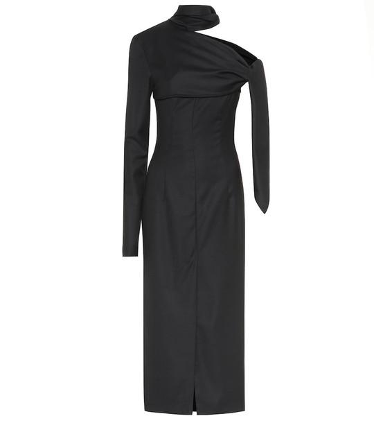 Matériel Tbilisi Wool midi dress in black