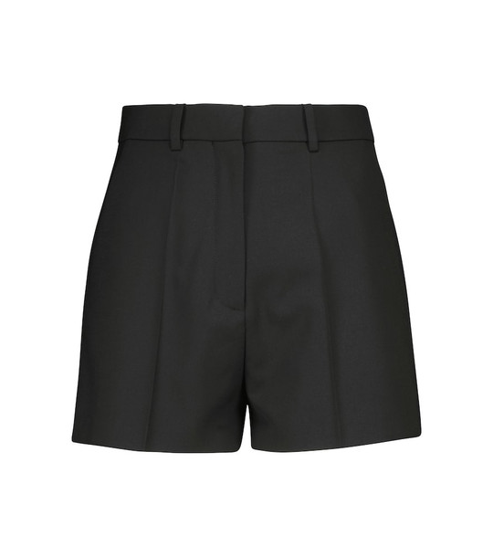 Valentino High-rise shorts in black