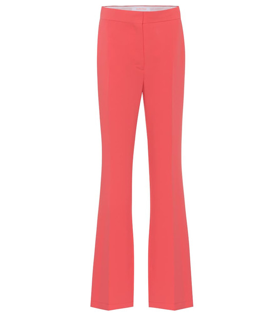 See By Chloé High-rise straight crêpe pants in pink