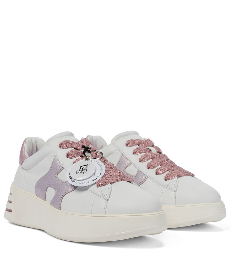 Hogan Rebel H564 leather sneakers in white