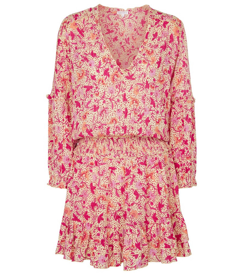Poupette St Barth Exclusive to Mytheresa – Ilona floral minidress in orange